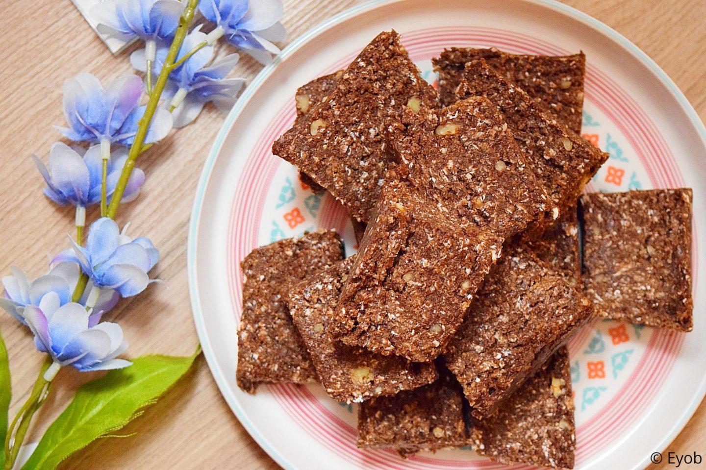 Proteïne repen maken met chocolade en stroop