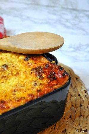 romige lasagne bolognaise